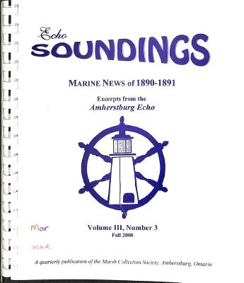 Echo Soundings: Marine News of 1890-1891
