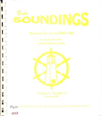 Echo Soundings: Marine News of 1900-1901