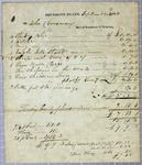 Dousman, Invoice, 3 September 1818