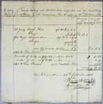 American Fur Company, Invoice, 20 September 1818