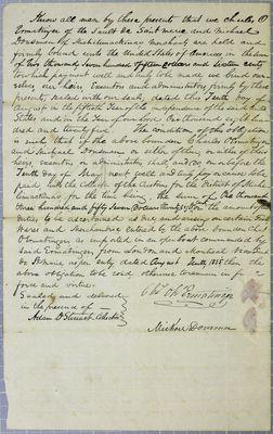 Charles O. Ermatinger, Bond, 10 August 1825