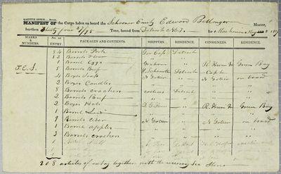 Emily, Manifest, 8 May 1827