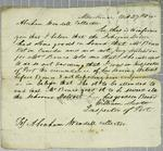 William Scott, letter, 27 October 1835