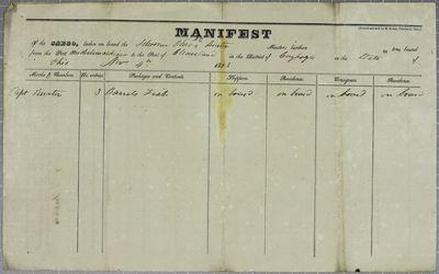 Ohio, Manifest, 4 November 1835