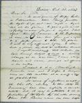 Wilson, Letter, 20 October 1843