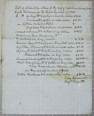 Sault Ste. Marie Entrances, Report, 30 September 1845
