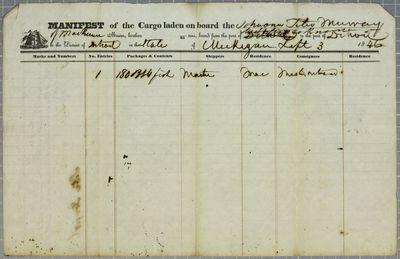 Peter Murray, Manifest, 3 September 1846