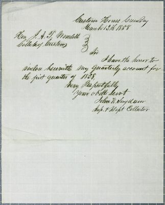 Green Bay Clearances, Report, 13 March 1858