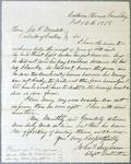 GreenBay customs office, letter, 12 October 1858