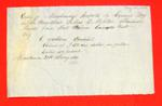 Julius D. Morton, Manifest, 27 May 1853