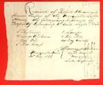 Public property, Marquette Light House, Receipt, 3 July 1853