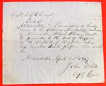 Michael Dousman, Permit, 21 April 1847