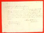 Merinda, Permit, 21 April 1847