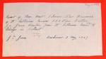 New Brunswick, Receipt, 3 May 1847