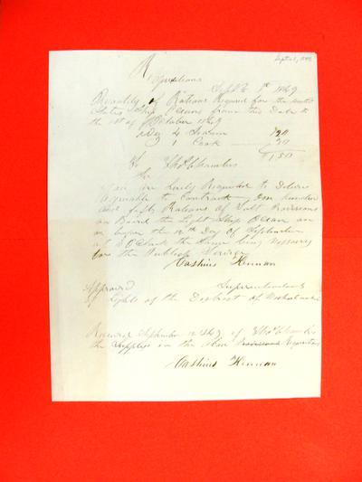 Ocean, Requisition, 1 September 1849