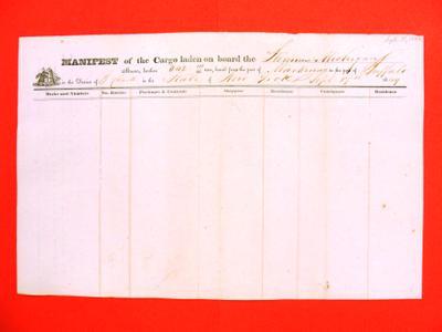 Michigan, Manifest, 17 September 1849