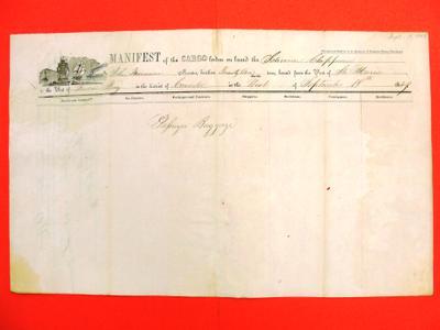 Chippewa, Manifest, 18 September 1849