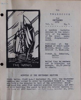 Telescope, v. 1, n. 4 (September 1952)