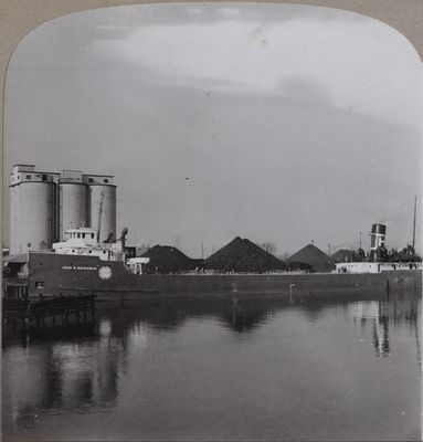 Freighter at Huron Cement Co. Docks