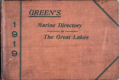 Green's Marine Directory of the Great Lakes, 1919