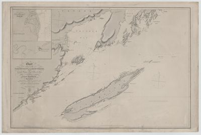 Chart of part of the North Coast of Lake Superior from Grand Portage Bay to Hawk Islet, including Isle Royale [1823-25, 1863]