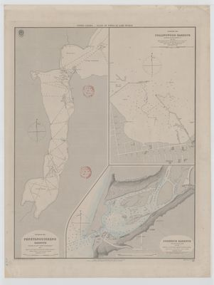 Upper Canada:  Plans of Ports in Lake Huron:    Penetanguishene, Collingwood, Goderich [1865]