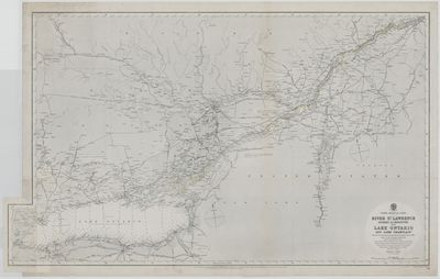 River St. Lawrence, Quebec to Kingston with Lake Ontario and Lake Champlain [1876, 1898]