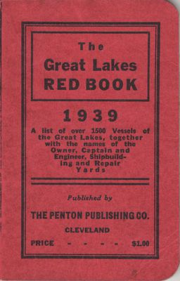 The Great Lakes Red Book, 1939