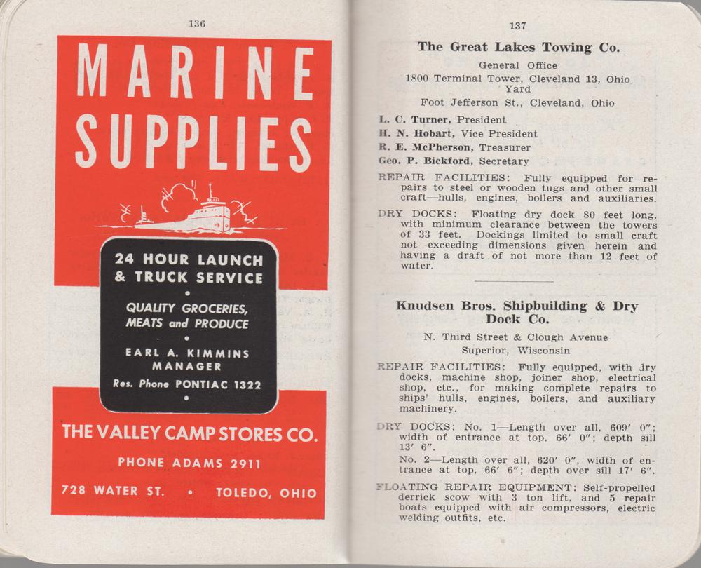 The Great Lakes Red Book, 1948