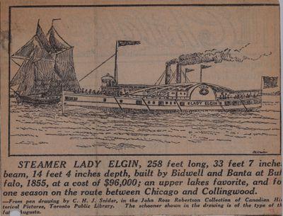 The Lady Elgin: Schooner Days LXXII (72)