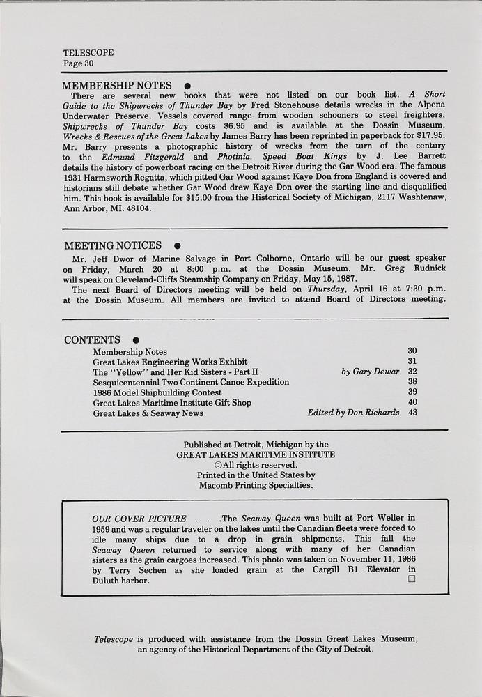 Telescope, v. 36, n. 2 (March-April 1987)