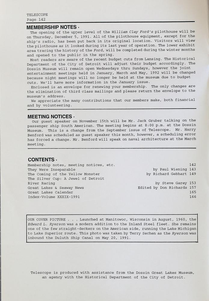 Telescope, v. 39, n. 6 (November-December 1991)