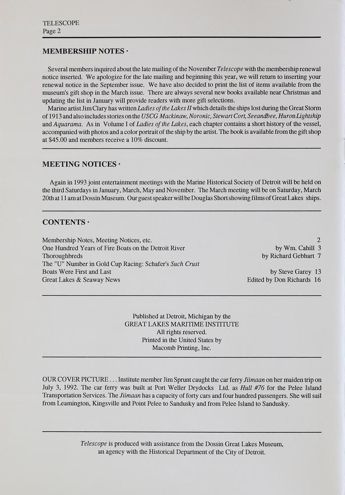 Telescope, v. 41, n. 1 (January-February 1993)