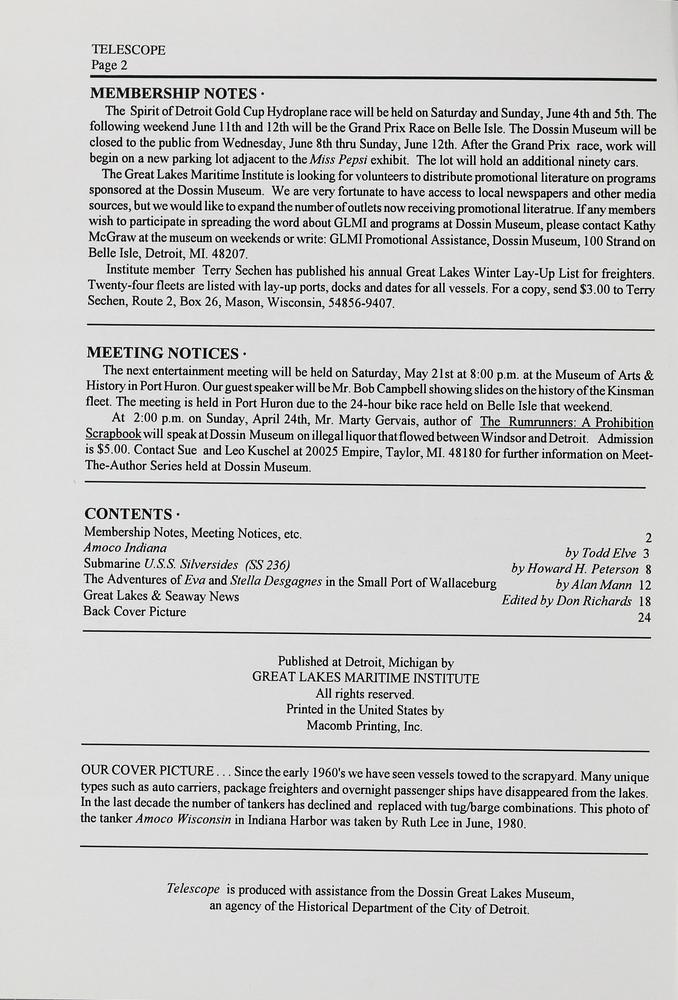 Telescope, v. 42, n. 1 (January-February 1994)