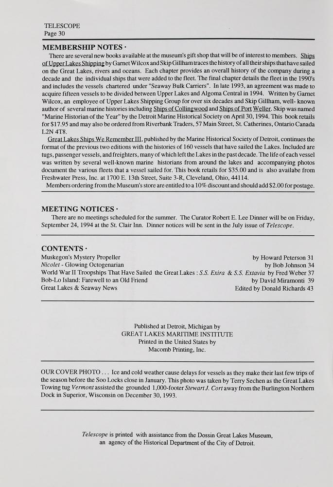Telescope, v. 42, n. 2 (March-April 1994)