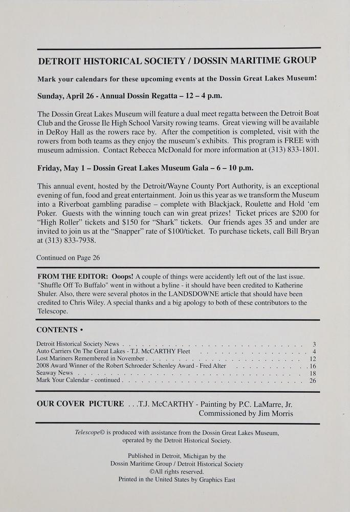 Telescope, v. 57, n.1 (Spring 2009)
