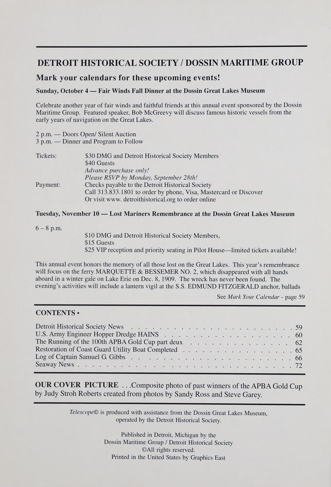 Telescope, v. 57, n.3 (Fall 2009)