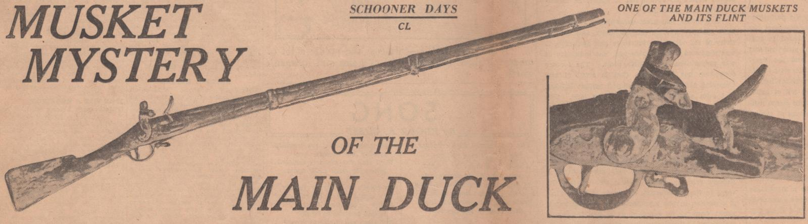 Musket Mystery of the Main Duck: Schooner Days CL (150)