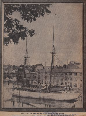 Tait's Types: Round Sterned Delaware, Gun-Barrel,  Picton, And Her Hickory Jibboom: Schooner Days CCLXVIII (268)