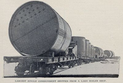 Largest Single Consignment Shipped from a Lake Boiler Shop
