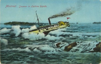 Montreal. Steamer in Lachine Rapids