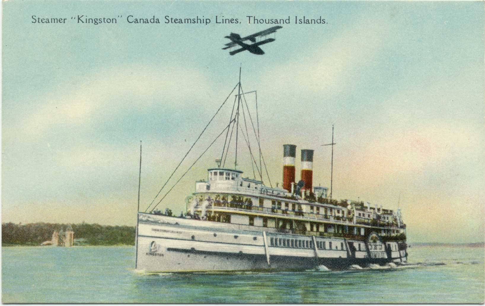 "Steamer ""Kingston"" Canada Steamship Lines, Thousand Islands"