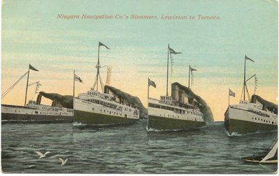 Niagara Navigation Co.'s Steamers, Lewiston to Toronto