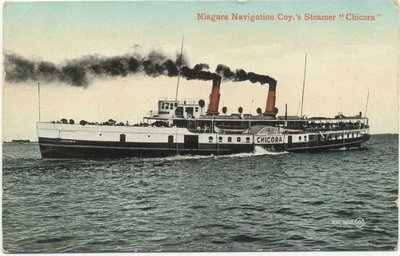 "Niagara Navigation Coy.'s Steamer ""Chicora"""