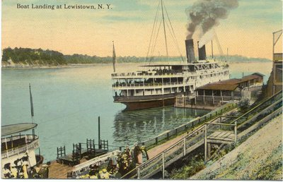 """""""Boat Landing at Lewistown, N. Y."""""""