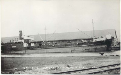 Canadian SS Elmbay at Toronto 1931