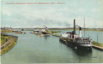 Locking through Canal at Cornwall, Ont., Canada