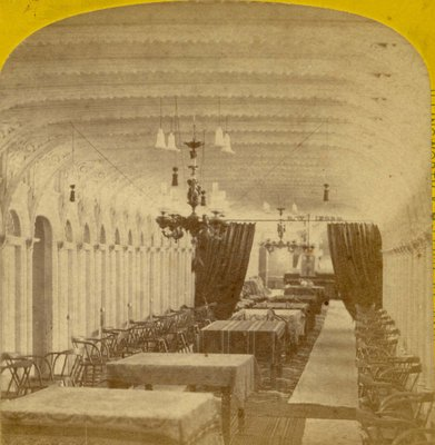 Main saloon of a steamboat
