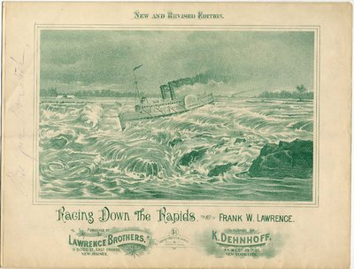 Racing Down the Rapids by Frank W. Lawrence