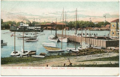 View of River at Charlotte, Near Yacht Club, Rochester, N. Y.